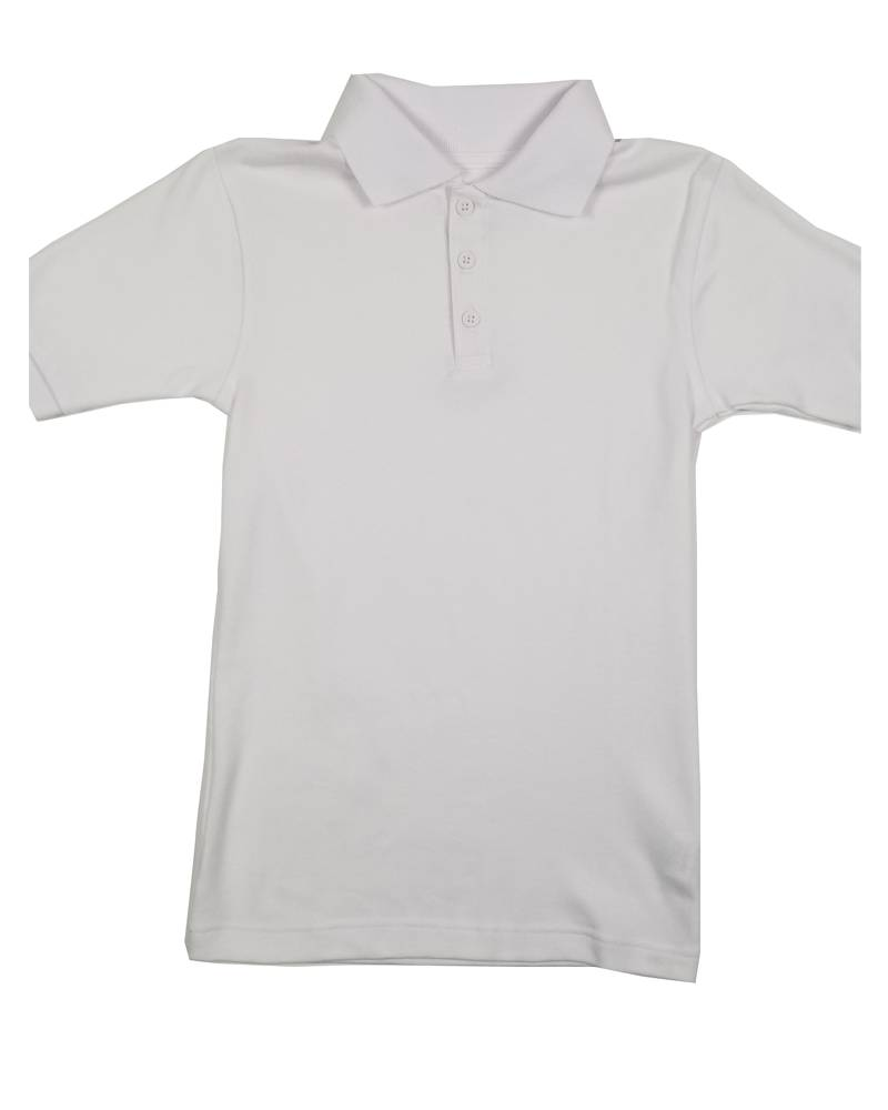 Classroom Uniforms CLASSROOM SHORT SLEEVE POLO WHITE E