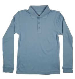 Classroom Uniforms CLASSROOM LONG SLEEVE POLO LT BLUE B