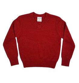 Elder Manufacturing Co. Inc. V/NECK PULLOVER SWEATER RED B