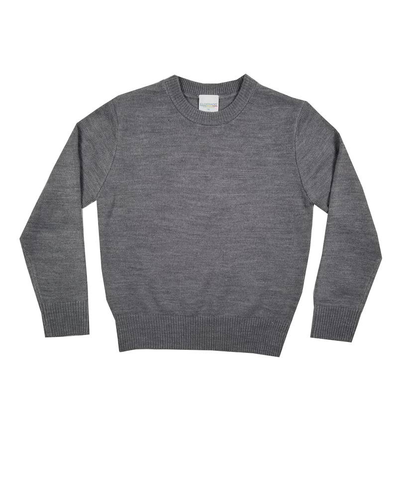 School Apparel, Inc. CREW NECK PULLOVER SWEATER GREY B
