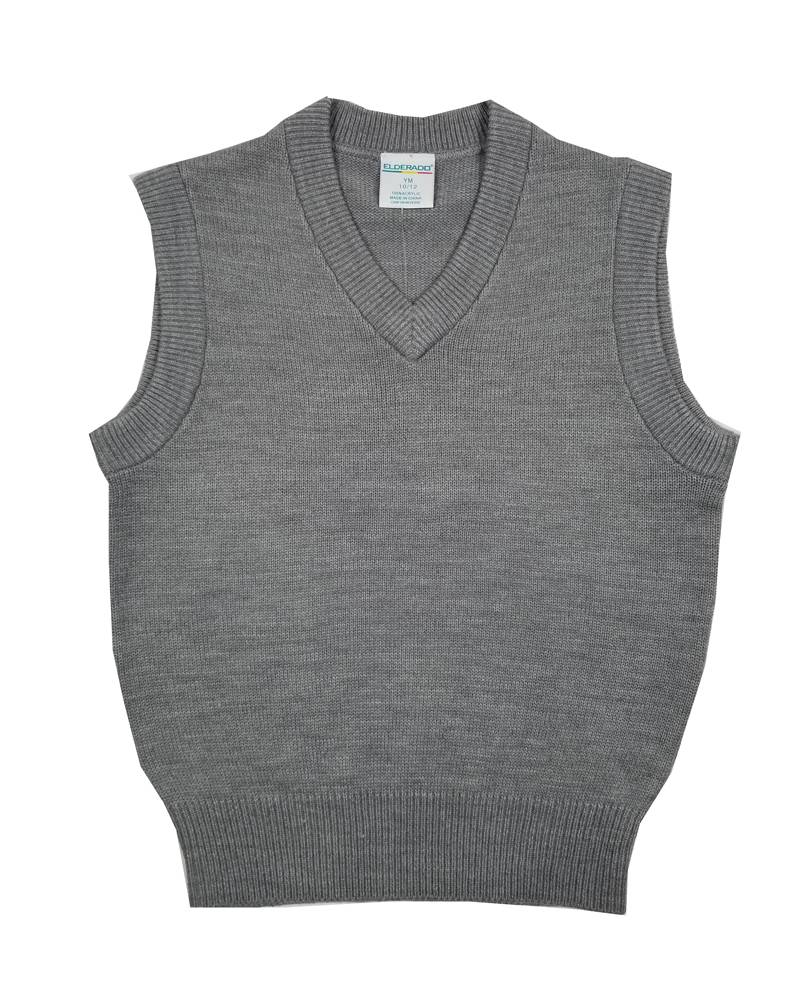 Elder Manufacturing Co. Inc. V/NECK SWEATER VEST GREY B