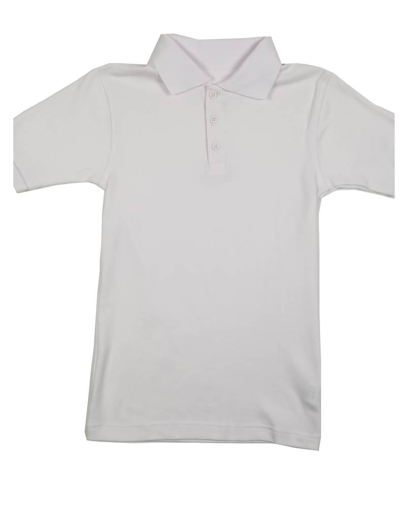 Classroom Uniforms CLASSROOM SHORT SLEEVE POLO WHITE C