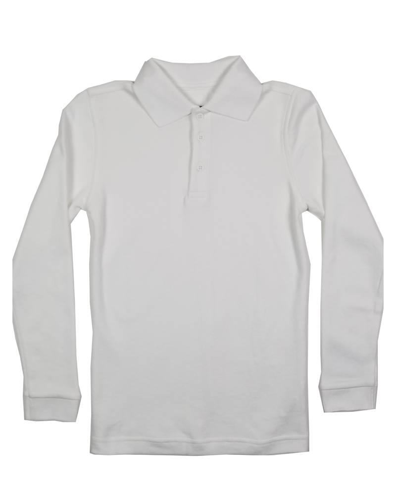 Classroom Uniforms CLASSROOM LONG SLEEVE POLO WHITE D