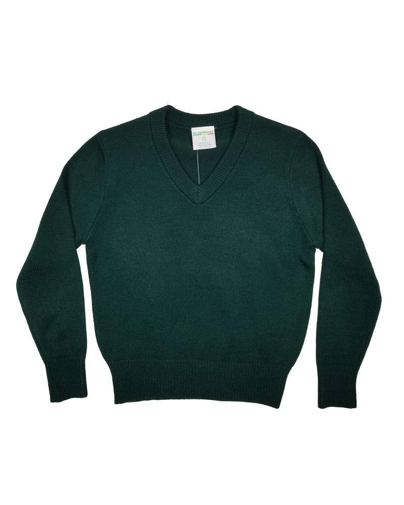 Elder Manufacturing Co. Inc. V/NECK PULLOVER SWEATER GREEN C