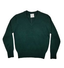Elder Manufacturing Co. Inc. V/NECK PULLOVER SWEATER GREEN B