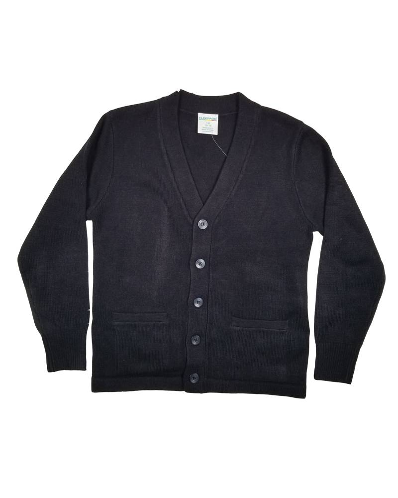 Elder Manufacturing Co. Inc. V-NECK CARDIGAN W/ POCKET NAVY C