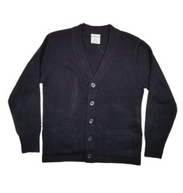 Elder Manufacturing Co. Inc. V-NECK CARDIGAN W/ POCKET NAVY B