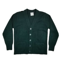 Elder Manufacturing Co. Inc. V-NECK CARDIGAN W/ POCKET GREEN B