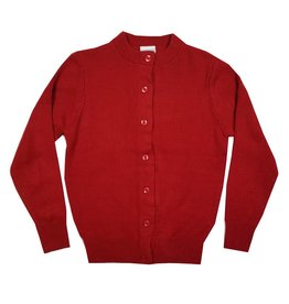 Elder Manufacturing Co. Inc. GIRLS CARDIGAN RED B