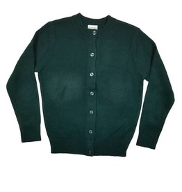 Elder Manufacturing Co. Inc. GIRLS CARDIGAN GREEN B