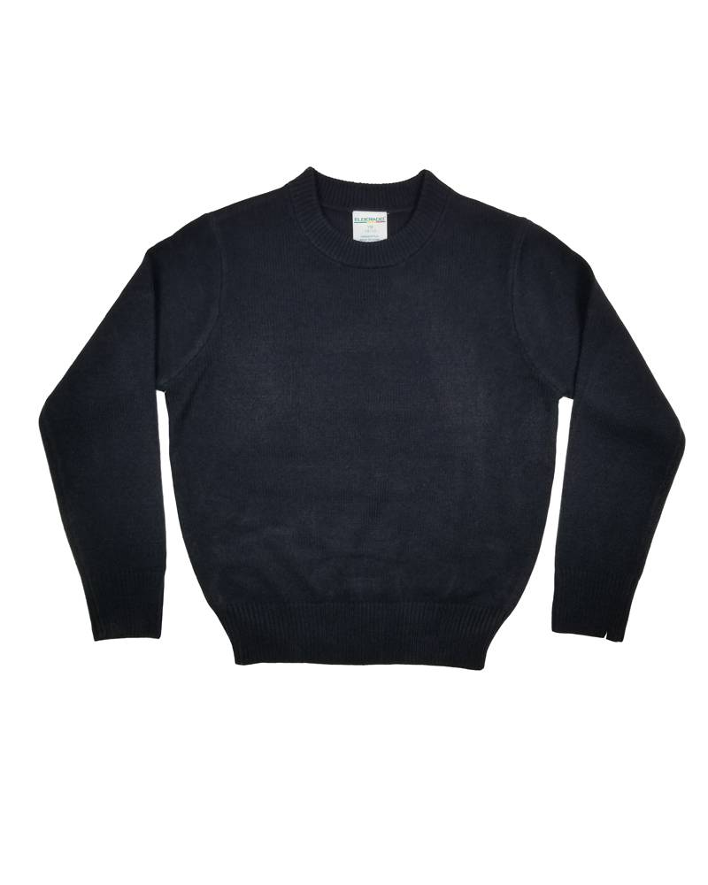 School Apparel, Inc. CREW NECK PULLOVER SWEATER NAVY B