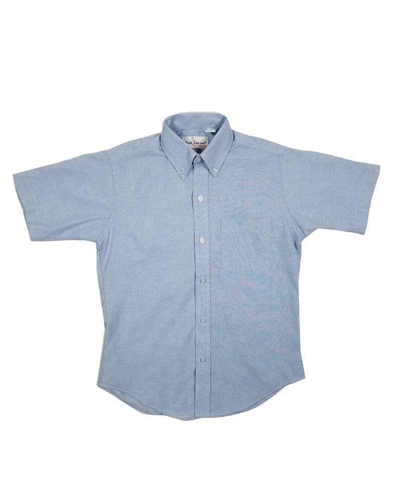 Elder Manufacturing Co. Inc. Boys/Mens SS Blue Oxfords 2