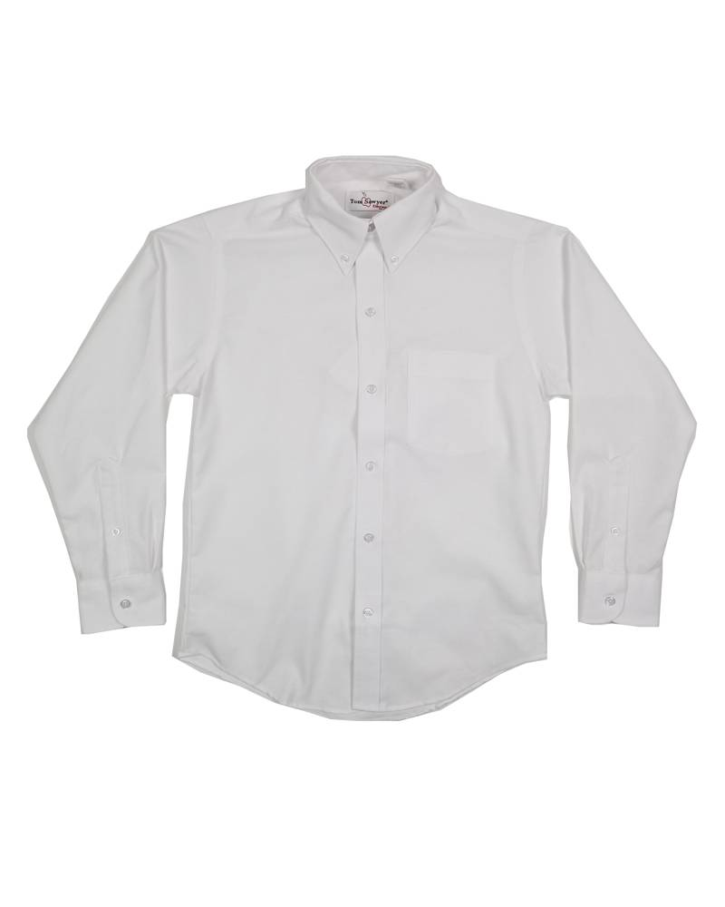 Elder Manufacturing Co. Inc. BOYS/MENS LS WHITE OXFORD SHIRT 4