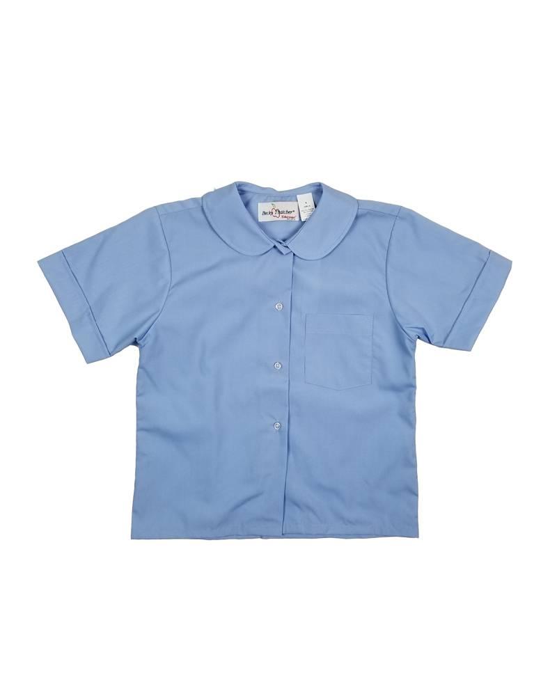 Elder Manufacturing Co. Inc. GIRLS/LADIES SS LT BLUE ROUND COLLAR BLOUSE 3