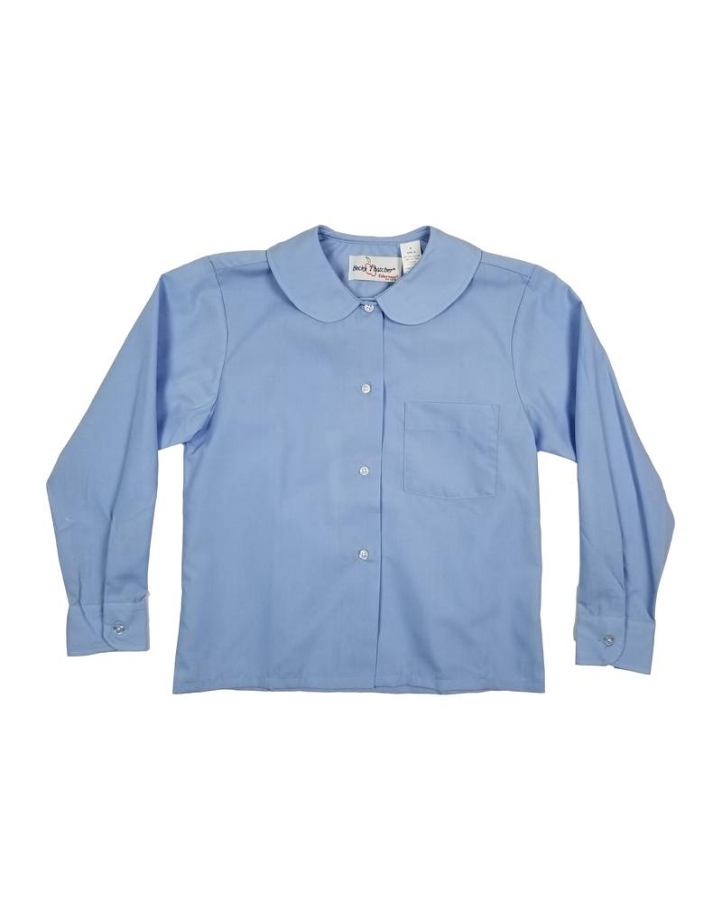 Elder Manufacturing Co. Inc. GIRLS/LADIES LS LT BLUE ROUND COLLAR BLOUSE 2