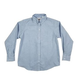 Elder Manufacturing Co. Inc. GIRLS/LADIES LS LT BLUE OXFORD BLOUSE 2