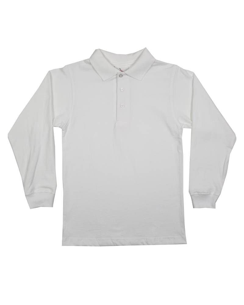 Elder Manufacturing Co. Inc. LONG SLEEVE JERSEY KNIT SHIRT WHITE B