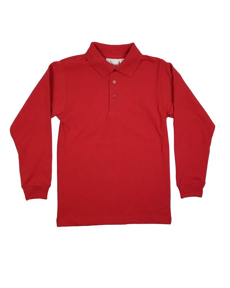 Elder Manufacturing Co. Inc. LONG SLEEVE  JERSEY KNIT SHIRT RED B