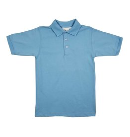 Elder Manufacturing Co. Inc. SHORT SLEEVE JERSEY KNIT SHIRT LT BLUE B