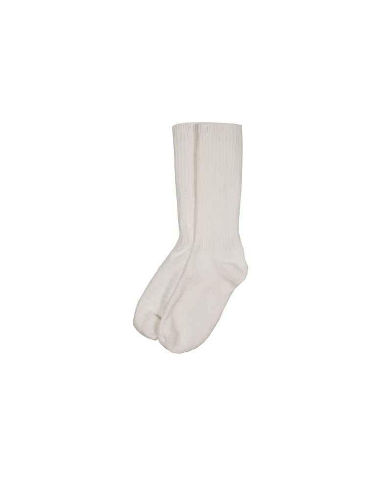 COTTON CREW SOCK WHITE E