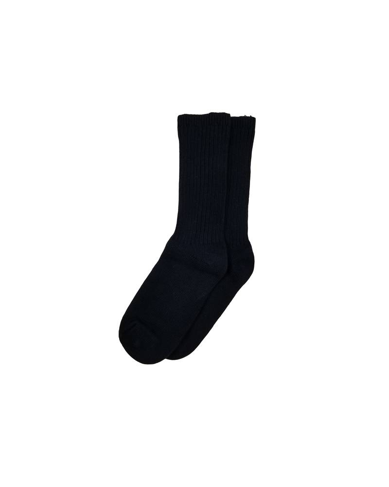 COTTON CREW SOCK NAVY C
