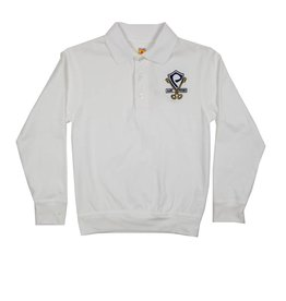 School Apparel, Inc. St. Peter's Long Sleeve Banded Bottom Polo