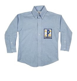 Elder Manufacturing Co. Inc. ST PETER BOYS/MENS LS LT BLUE OXFORD SHIRT