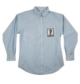 Elder Manufacturing Co. Inc. ST PETER GIRLS/LADIES LS LT BLUE OXFORD BLOUSE
