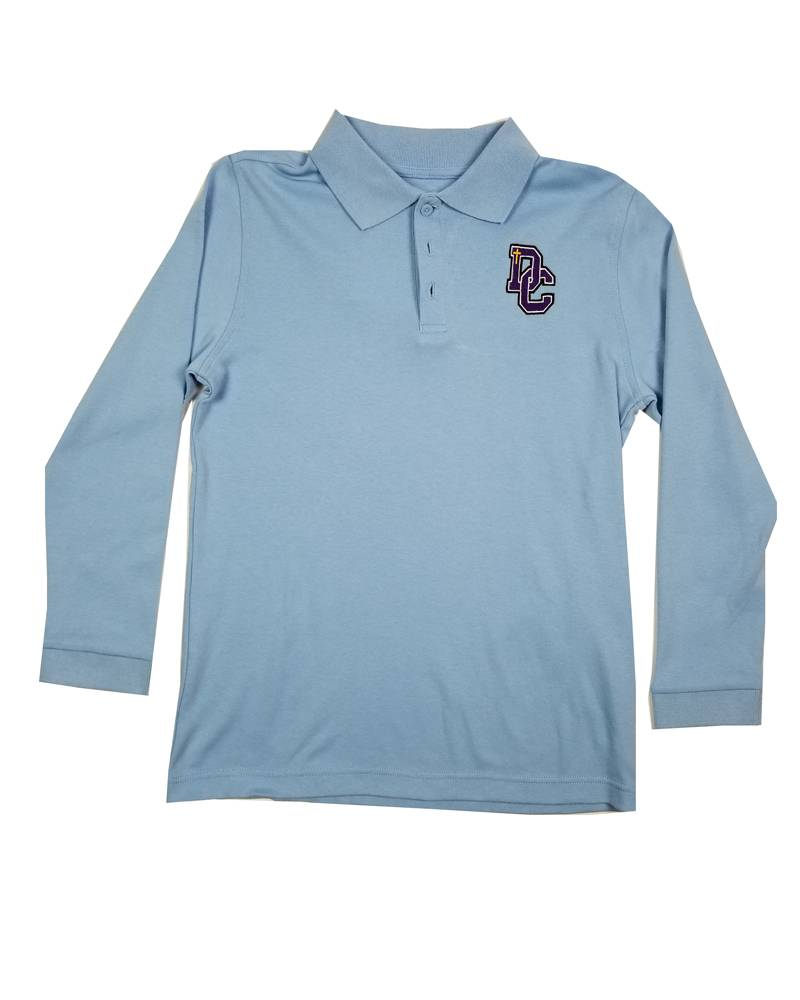 Classroom Uniforms DAYTON CHRISTIAN LS POLO SHIRT - LT BLUE