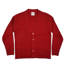 Elder Manufacturing Co. Inc. V-NECK CARDIGAN W/ POCKET RED B