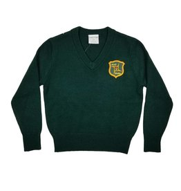 Elder Manufacturing Co. Inc. ST. BRIGID V/NECK PULLOVER SWEATER GREEN