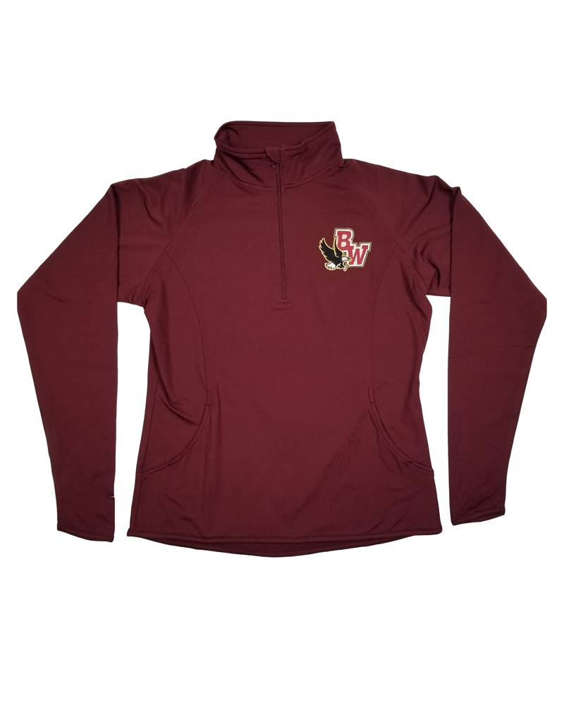 In House Embroidery BISHOP WATTERSON WOMENS 1/4 ZIP WICKING PULLOVER