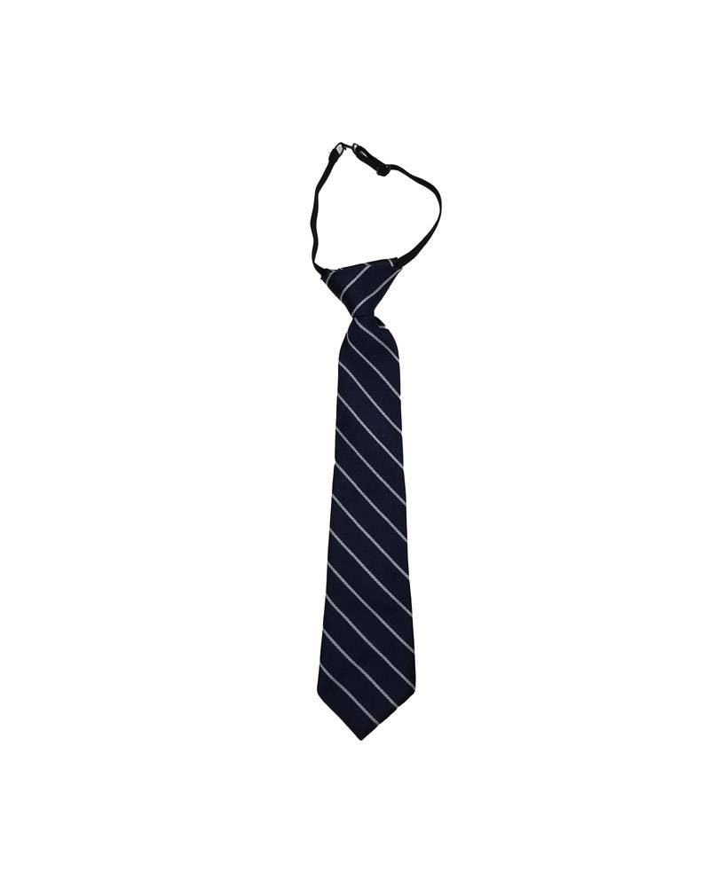 "A Finishing Touch 14"" READY MADE TIE NAVY/WHT 14"