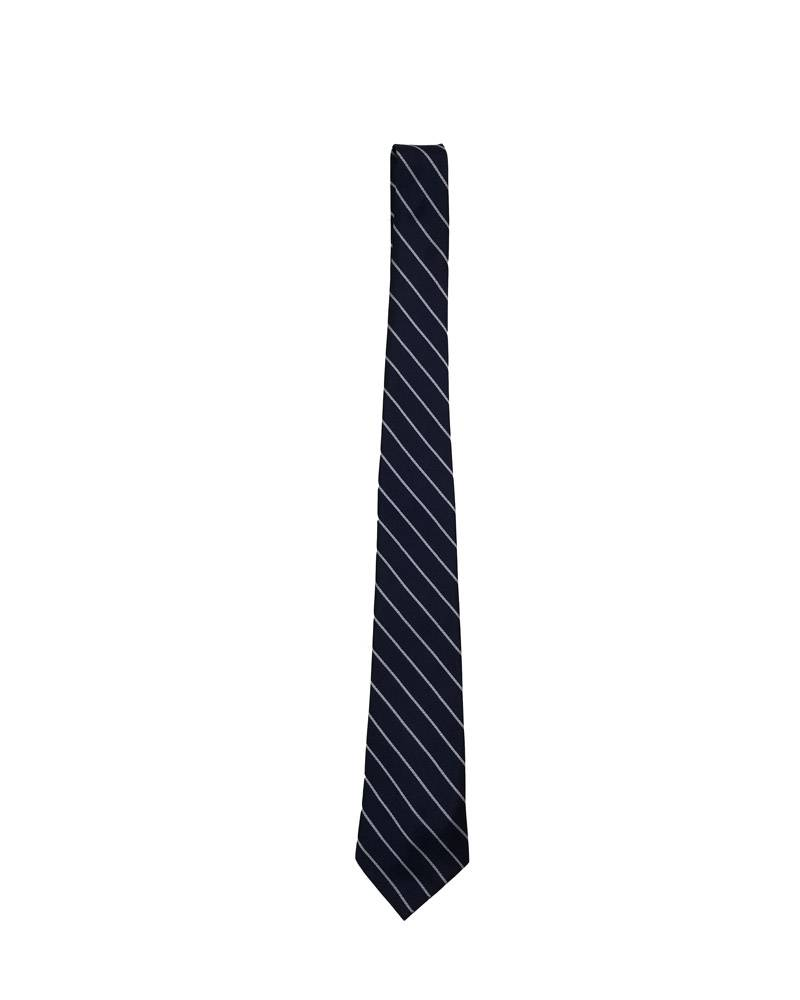 "A Finishing Touch 48"" OPEN TIE - PREP LENGTH NAVY/WHITE 48"