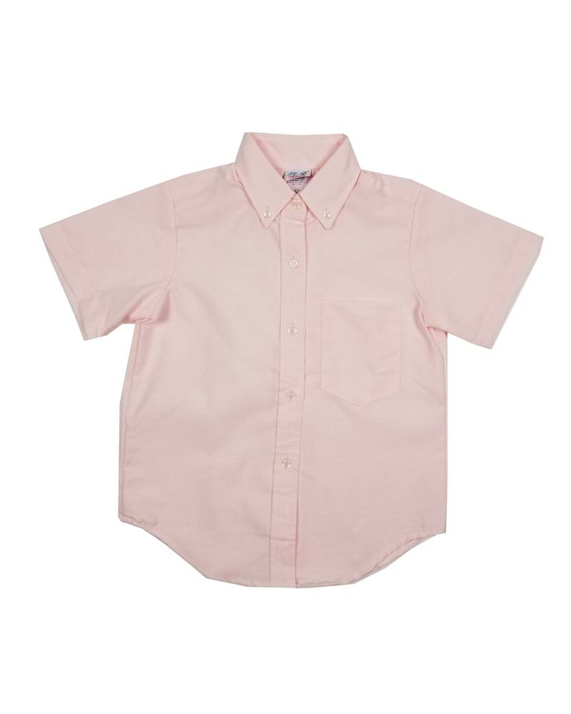 GIRLS/LADIES SS PINK OXFORD BLOUSE