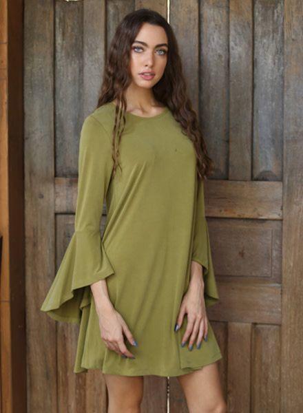Angie Cupro Angles Sleeved Dress (X4U05)