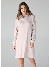 Angie Soft Cowl Neck Dress With Balloon Sleeves (X4U03)
