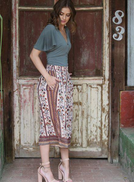 Angie Gaucho Pants (25B85)