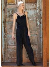 Angie Wide Leg Velvet Jumpsuit (B5577)