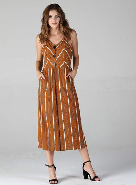Angie Striped Jumpsuit (Q5T97)