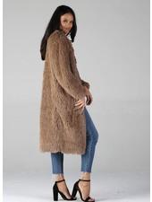 Angie Long Furry Coat (SJ711)