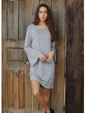 Angie Heather Hatchi Ruffle Cuff Sweater Dress (X4T83)