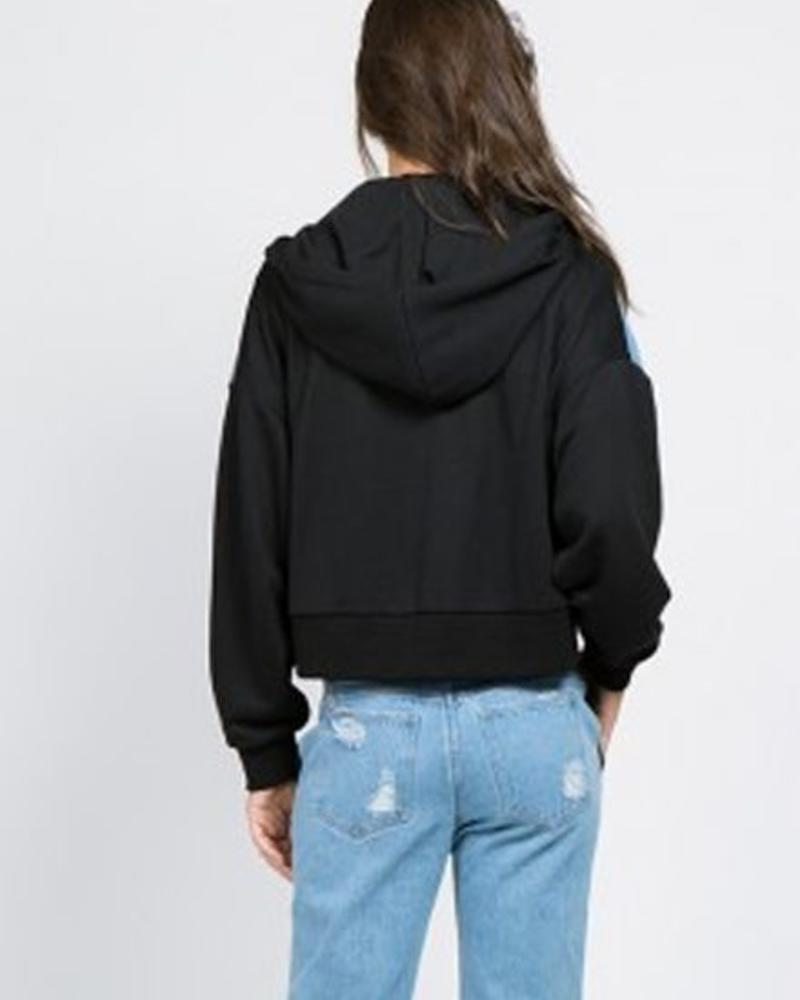 Signature 8 French Terry Hooded Denim Jacket (S5504)