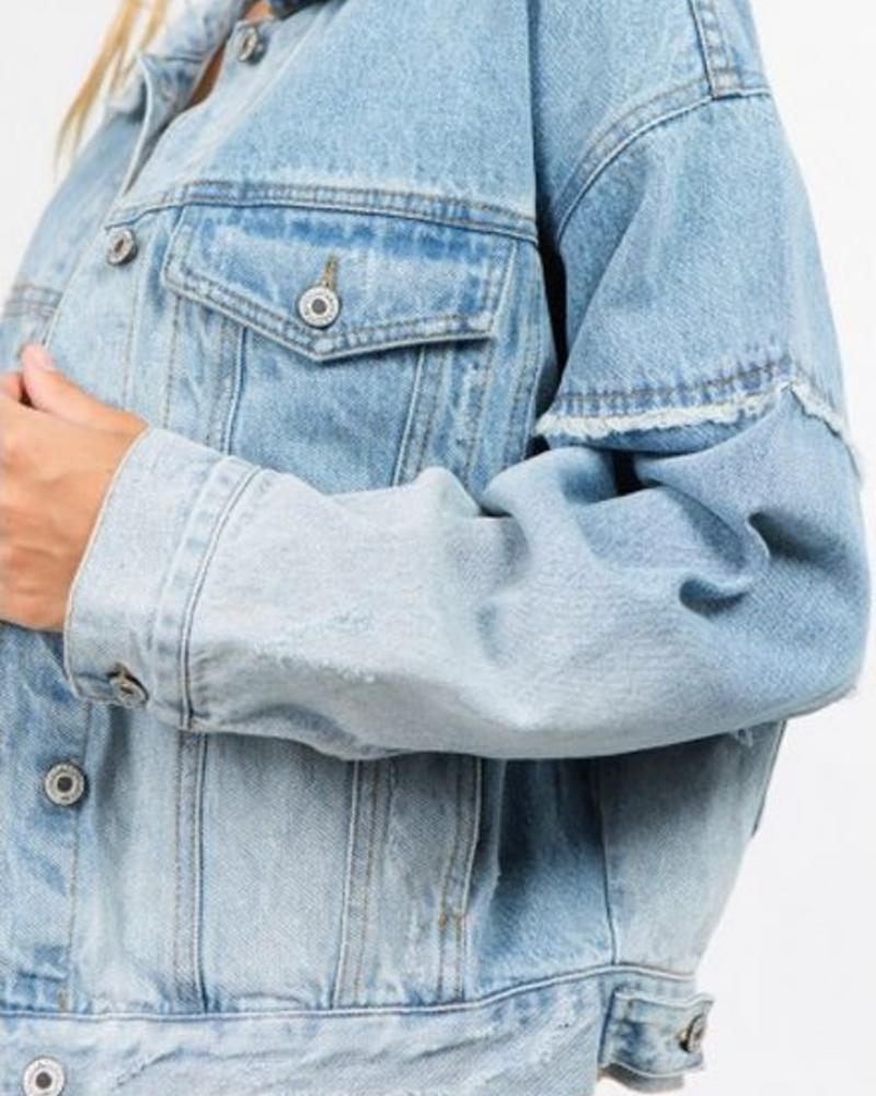 Signature 8 Oversized Denim Jacket (S5452)
