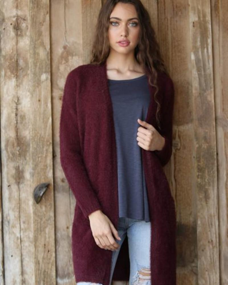 Angie Super Soft Open Cardi WIth Pockets (XHA70) - FINAL SALE