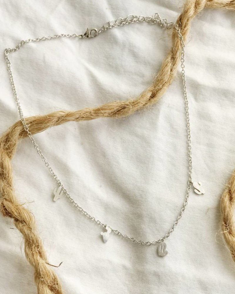 Must Have Cactus Charm Necklace (NN0241)