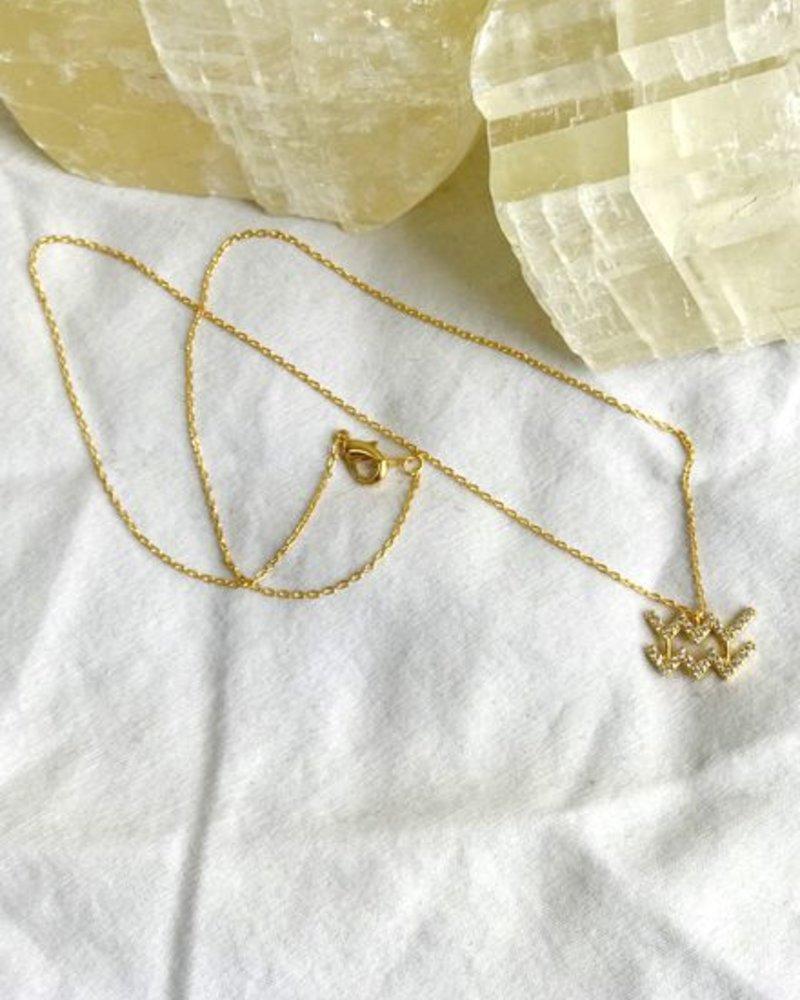 Must Have Aquarius Zodiac Pendant Necklace (NN1278)
