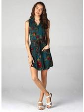 Angie Sleeveless Shirt Dress With Pockets (B4AA3)