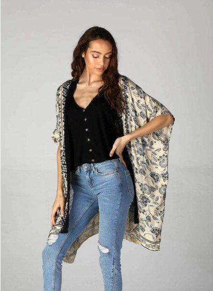 Angie Wide Sleeve Open Front Kimono (BJ608)
