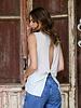 Angie Open Back Short Sleeve Knit Tank (X2X41)